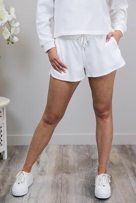 Bumbles Waffle Shorts - White