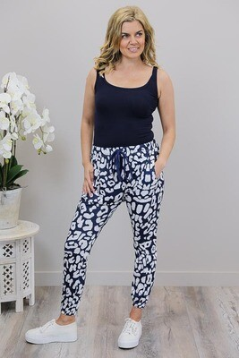 Dezzy Drop Pants - Navy/White Large Leo