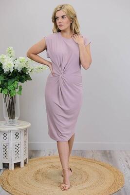 Luka Jersey Tie Midi Dress - Blush Mauve