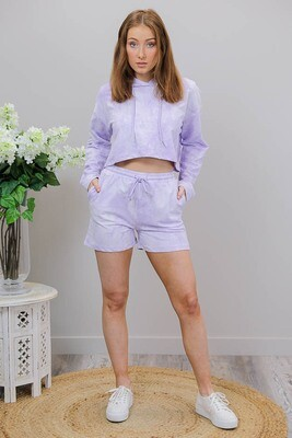 Psycho Delish Shorts - Lilac Tie Dye