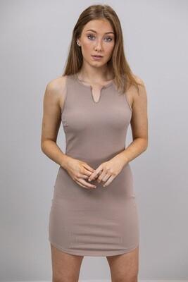 Jorja Rib Tank Dress - Mocha