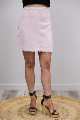 Vivian Fray Skirt - Dusty Pink