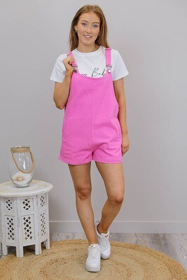 Bubblegum Overall Playsuit - Candy Pink