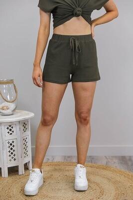 Lattice Waffle Lounge Shorts - Khaki