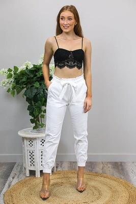 Lennie Lace Bralette Crop Top - Black
