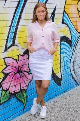 Absolutely Fabulous Cotton Shirt - Fairy Floss Pink