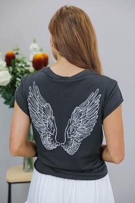 Jeepers Vintage Tee Shirt - Vintage Black/Wings