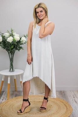 Delilah Fray Hi Lo Dress - Natural