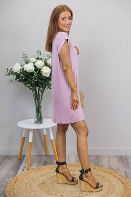 Lazy Dayz T-Shirt Dress - Dusty Pink