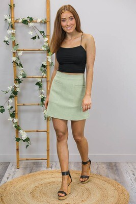 Miranda Mini Skirt - Pistachio Green
