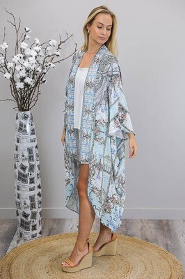 Avalon Gems Summer Cape - Sky Blue/Royal Bronze