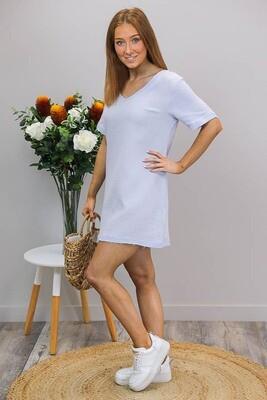 Talia Beach Mini Dress - Lilac