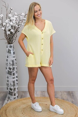 So Sweet Playsuit - Pale Yellow