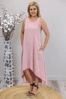 Delilah Fray Hi Lo Dress - Blush