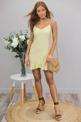 So Sweet Singlet Dress - Pale Yellow