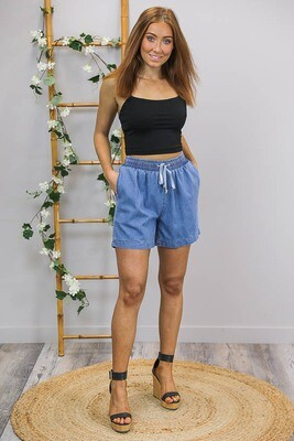 Jangles Drawstring Shorts - Mid Denim