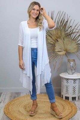 Sandy Beach Summer Cardi - White