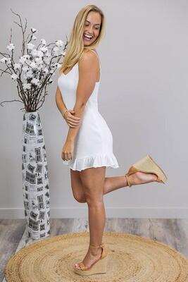So Sweet Singlet Dress - White