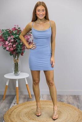 Twilight Sky Mini Dress - Cornflower Blue