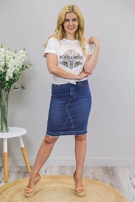 Juno Tee Shirt - White/Beverly Hills