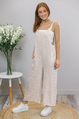 Shereen Jumpsuit - Latte/White Floral