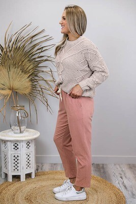 Rundles Cronulla Beach Pants - Dark Blush