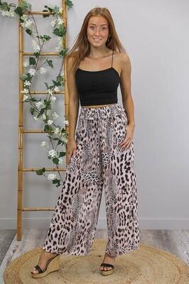 Cassandra Gems Culotte Pants - Blush Leo