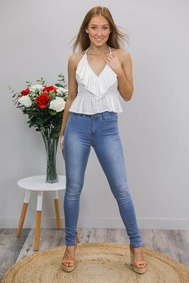 Refuge Super Soft Hi Waist Jeans - Mid Denim
