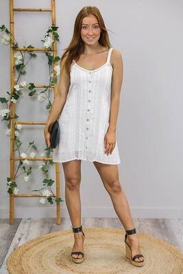 Beach Magic Singlet Mini Dress - White