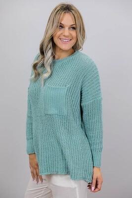 Chenille Oversize L/S Knit Jumper - Jade