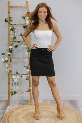Cronulla Not So Mini Skirt - Black Denim