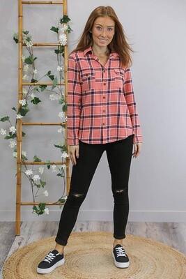 Flanno Shirt - Blush Pink