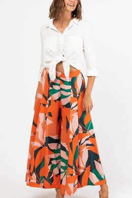 Whimsical Culotte Pants - Mandarin Emerald