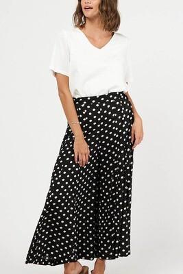 Whimsical Culotte Pants - Black/White Spot