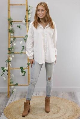 Tia Maria Oversized Shirt - Ivory