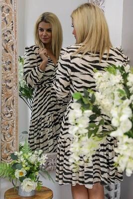 In The Fields Mini Dress - Zebra