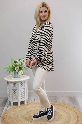 Jennifer L/S Top - Zebra