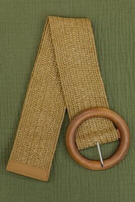 Belt - Wide Dark Natural/Style 3