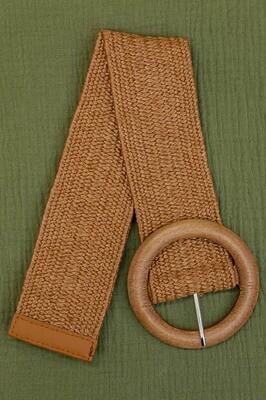 Belt - Wide Nutmeg Brown/Style 3