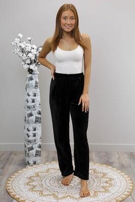 Missy Fluff Lounge Pants - Black