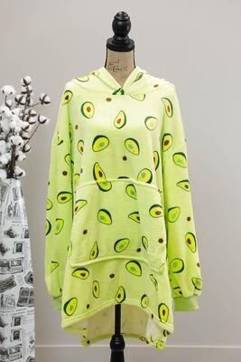 Fifi Fluff Light Oversized Hoodie - Avocado/Avocado