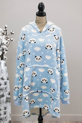 Fifi Fluff Light Oversized Hoodie - Blue/Panda Cloud