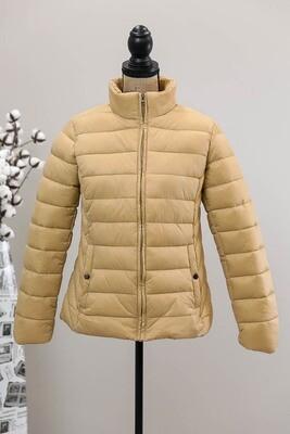 Maddi Puffer Jacket - Camel