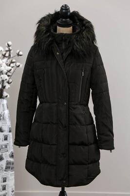 Alaskan Fur Hood Puffer Jacket - Black