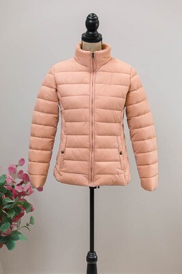 Maddi Puffer Jacket - Blush