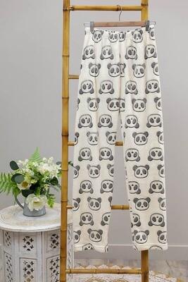 Fifi Fluff PJ Bottoms - White/Grey Panda