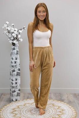 Missy Fluff Lounge Pants - Camel