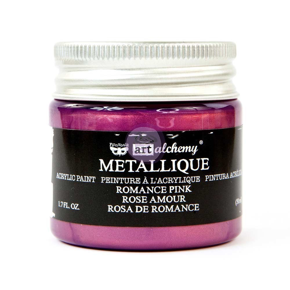 Romance Pink - Metallique Acrylic Paint - Prima Art Alchemy