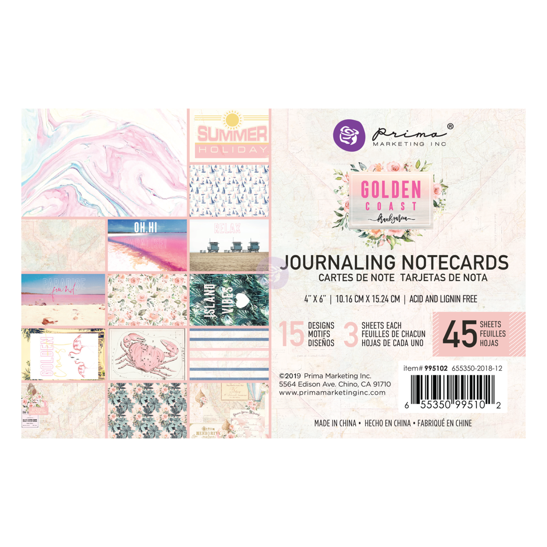 Golden Coast 4x6 Journaling Cards