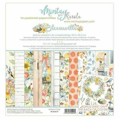 Mintay by Karola - Bloomville - 12 x 12 Collection Pack